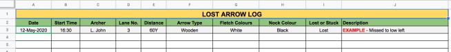 Lost Arrow Log